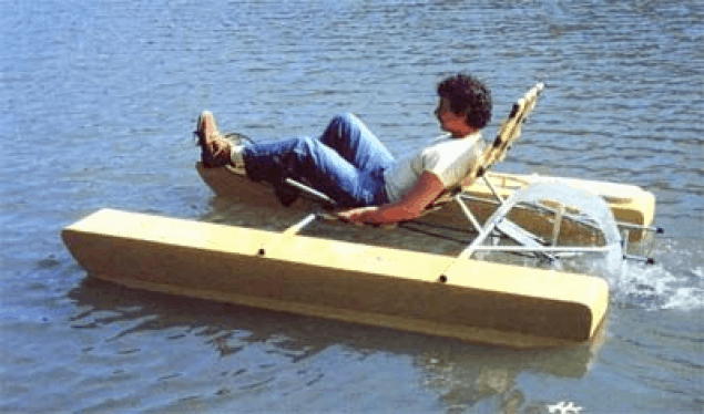 How to Build a Recumbent Pontoon Pedal Boat – Mother Earth News